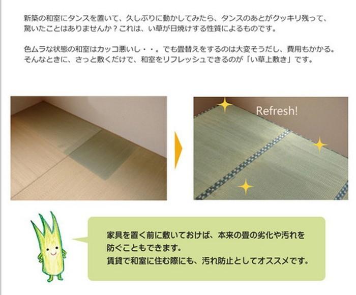 イケヒコ い草上敷き 西陣 江戸間3畳の商品画像|3