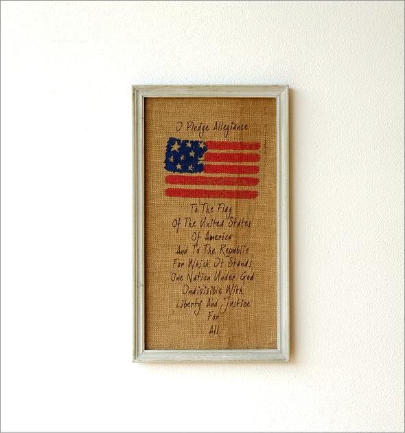 リネンの壁飾り USA2タイプ (1)