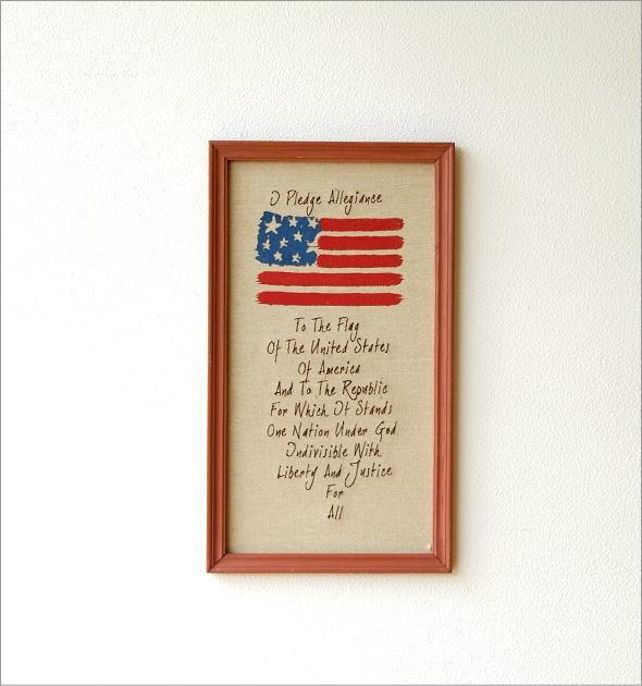 リネンの壁飾り USA2タイプ (2)