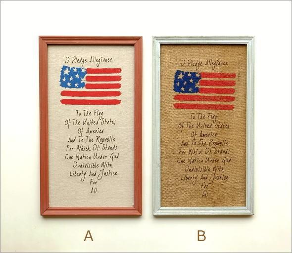 リネンの壁飾り USA2タイプ (5)