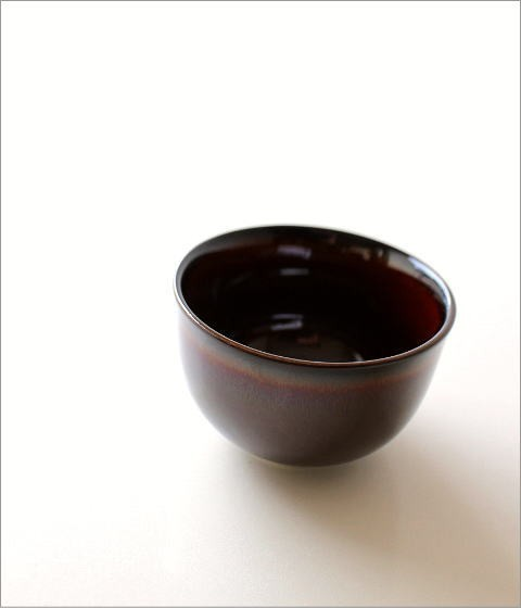 煎茶碗 うるし釉(1)