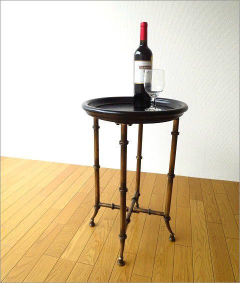 アイアンとウッドのトレイテーブル(2)