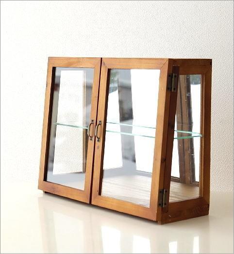 レトロウッドのガラスケース(2)
