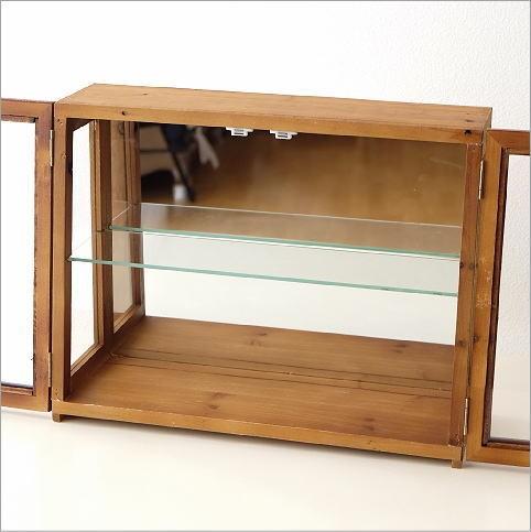 レトロウッドのガラスケース(3)