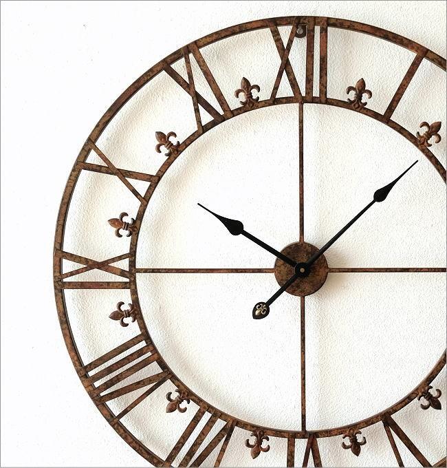 大きな掛け時計アイアンダイヤル(1)