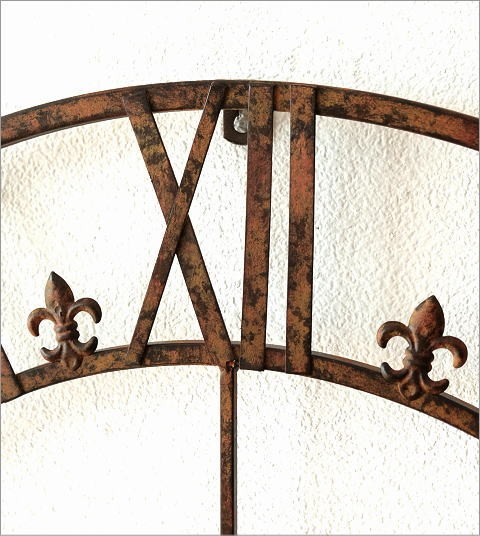 大きな掛け時計アイアンダイヤル(2)