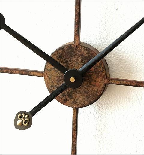 大きな掛け時計アイアンダイヤル(3)