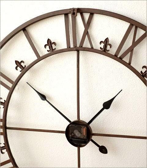 大きな掛け時計アイアンダイヤル(4)