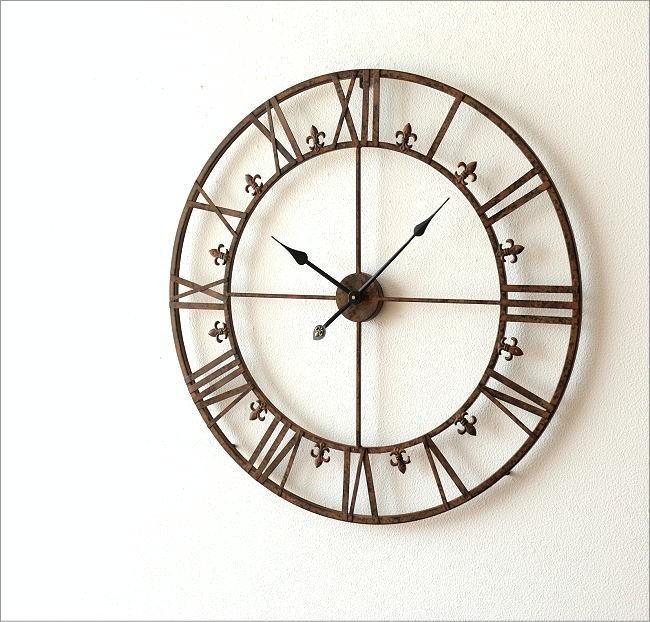 大きな掛け時計アイアンダイヤル(5)