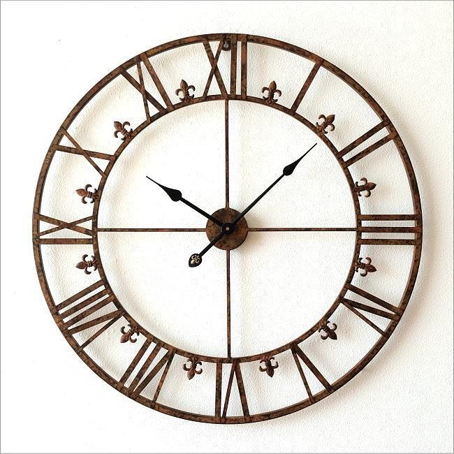 大きな掛け時計アイアンダイヤル(6)