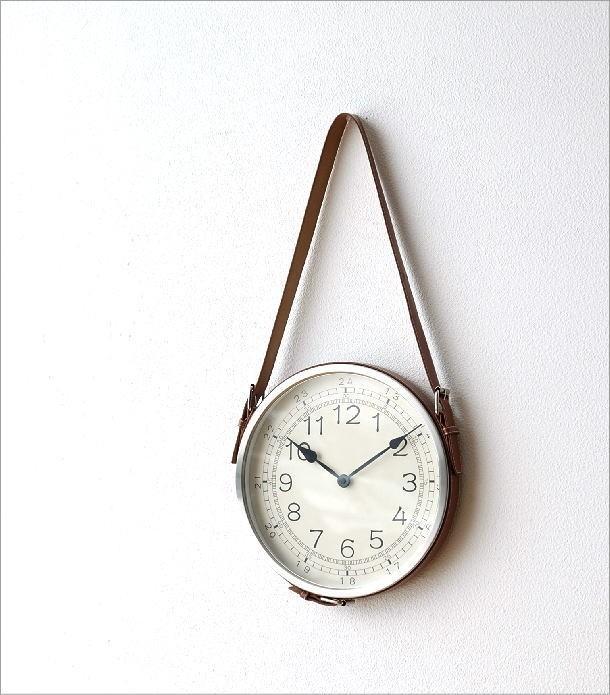 レザーベルト掛け時計(1)