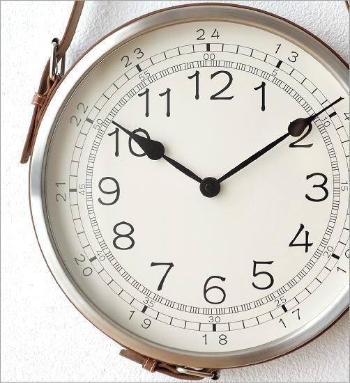 レザーベルト掛け時計(2)