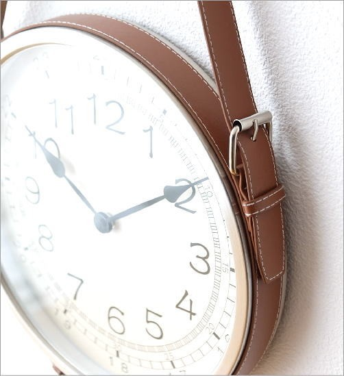レザーベルト掛け時計(3)