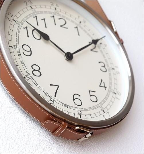レザーベルト掛け時計(4)