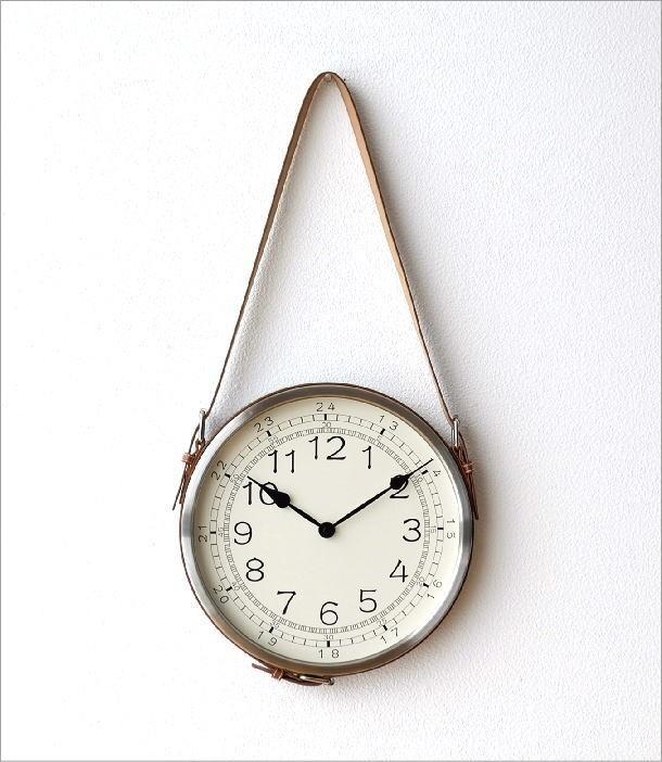 レザーベルト掛け時計(6)
