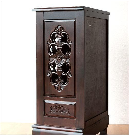 アンティークキャビネット 棚 電話台