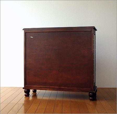 アンティーク キャビネット 木製棚(5)