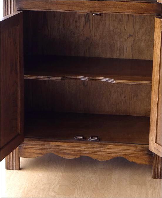 食器棚 カップボード オーク飾り棚(4)