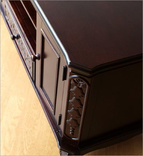 テレビ台 木製収納家具 アンティークなローボード(4)