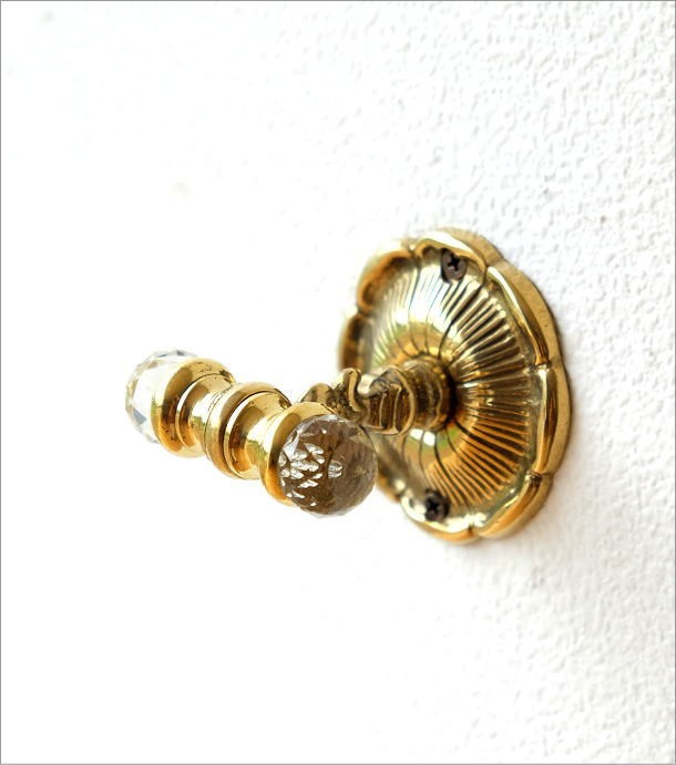 真鍮の壁掛フック(1)