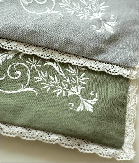 刺繍クッションカバー 4カラー(2)