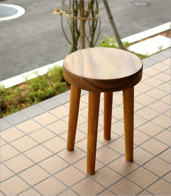 木製スツール ウッドスツール サークル(1)