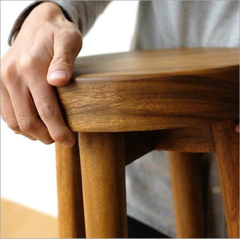 木製スツール ウッドスツール サークル(3)