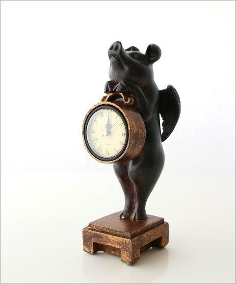 置時計(置き時計) | 天使のブタさんクロック全体