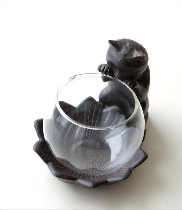 花瓶 フラワーベース 子ネコのミニベース(1)