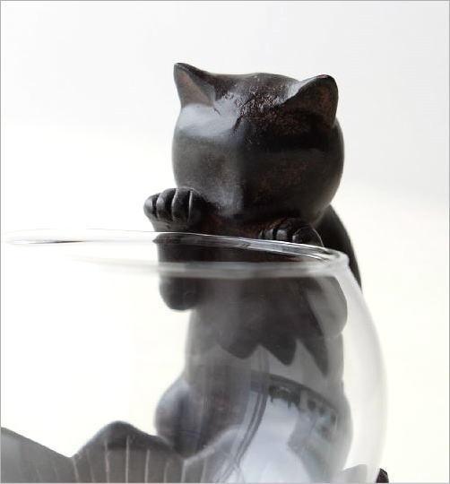 花瓶 フラワーベース 子ネコのミニベース(2)