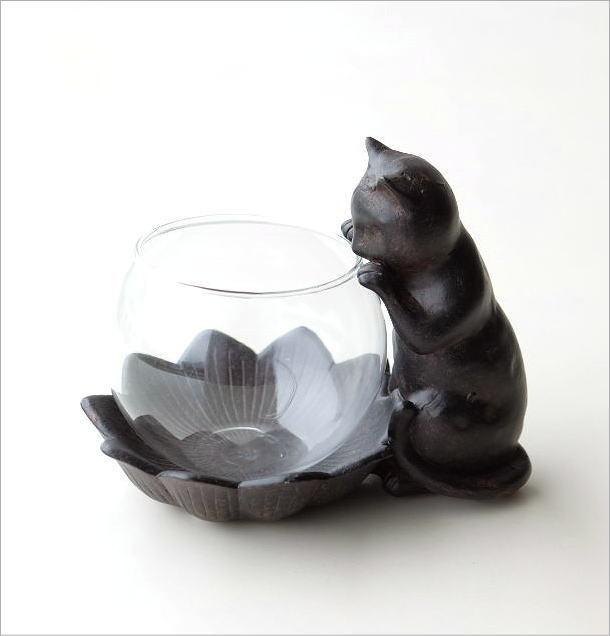 花瓶 フラワーベース 子ネコのミニベース(4)