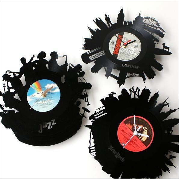 レコード盤の掛け時計 3タイプ(1)