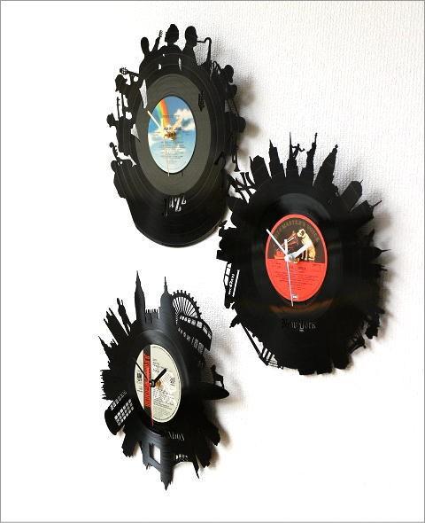 レコード盤の掛け時計 3タイプ(2)
