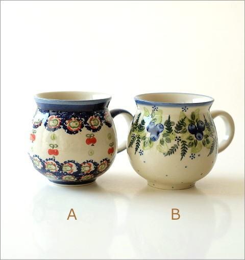 ポーランド陶器のマグB 5タイプ(3)