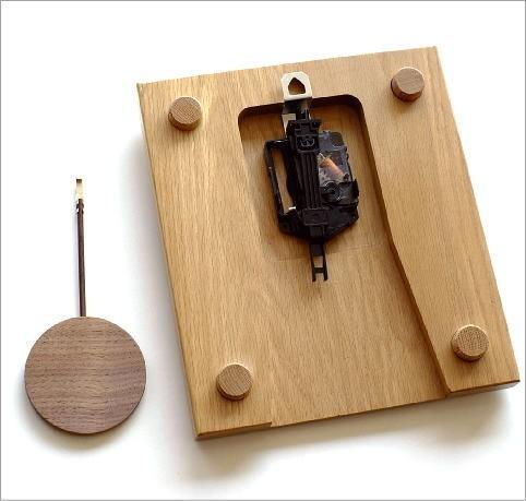 木の振り子時計 スクエア(5)