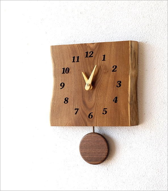 木の振り子時計 エンジュ(1)