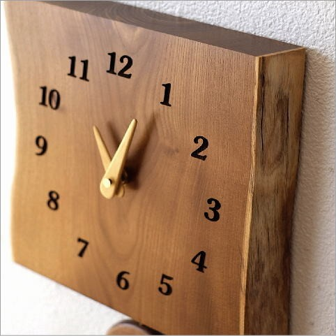 木の振り子時計 エンジュ(2)