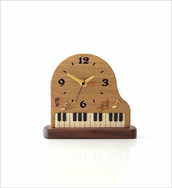 ウッド置き時計 ピアノ(3)