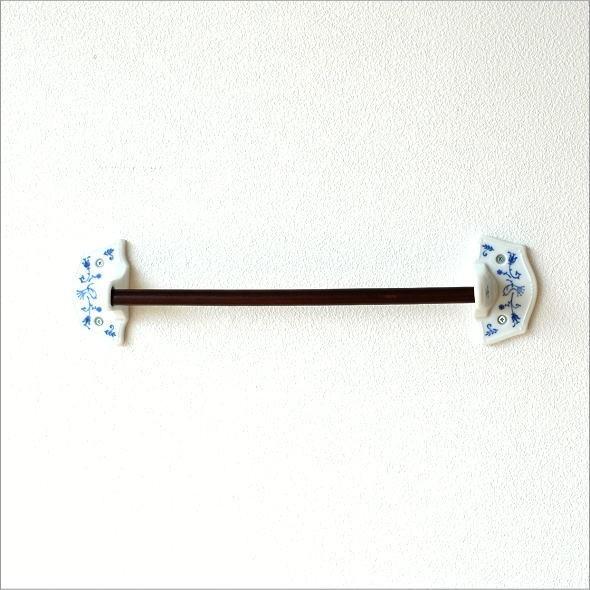 磁器とウッドのタオルハンガー(4)