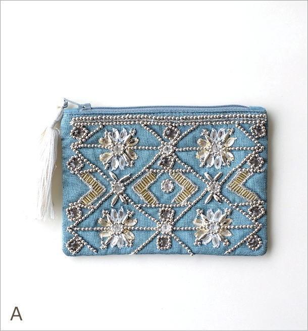 ビーズ刺繍ポーチS 2カラー(3)