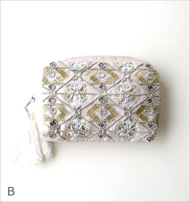 ビーズ刺繍ポーチM 2カラー(4)