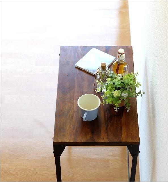 シーシャムとアイアンのネストテーブル L(2)