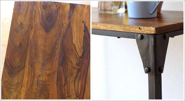 シーシャムとアイアンのネストテーブル L(3)