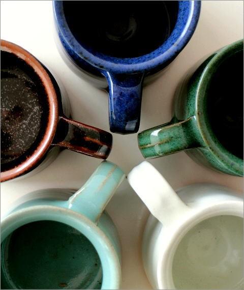 陶器のマグカップ 5カラー(1)