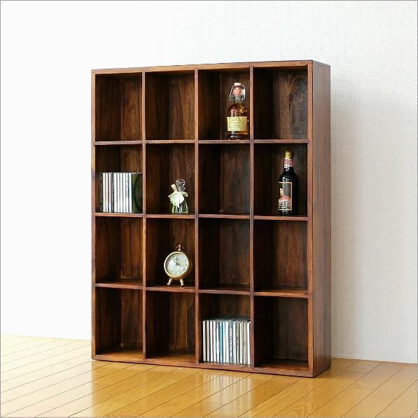 飾り棚/CDラック/DVDラック シーシャムウッドフリー棚16(1)