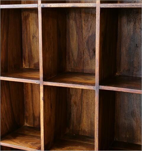 飾り棚/CDラック/DVDラック シーシャムウッドフリー棚16(4)