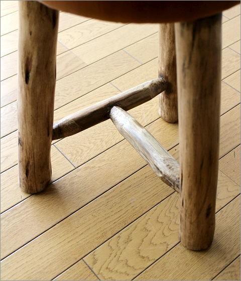 革の原木スツール(3)