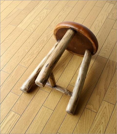 革の原木スツール(4)