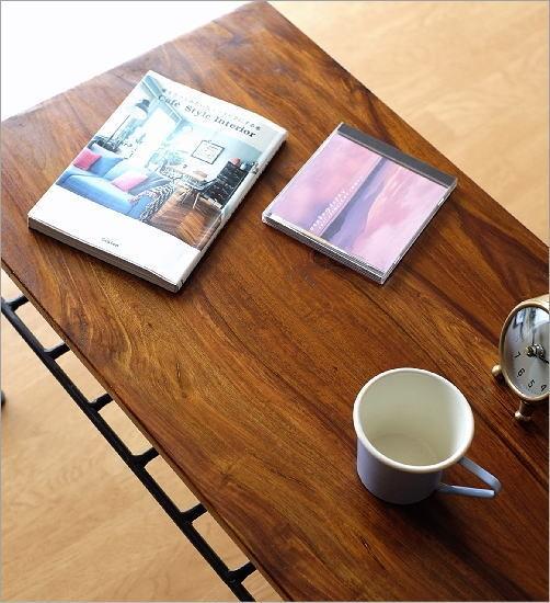 シーシャムウッドとアイアンのローテーブル(2)