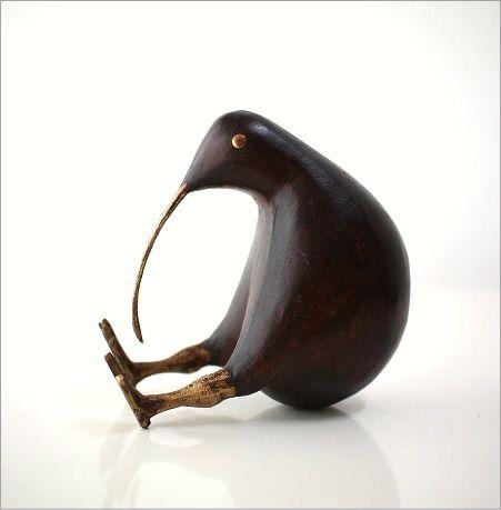 キウイ木彫り(大)(5)